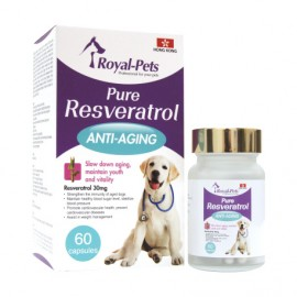 Royal Pets 純正白藜蘆醇 (狗)- 60 粒