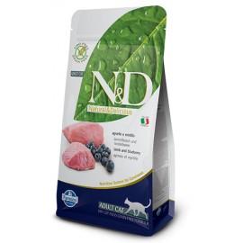 Farmina N&D Grain Free Feline - Lamb & Blueberry 無穀物純羊肉 + 藍苺 貓糧 5kg