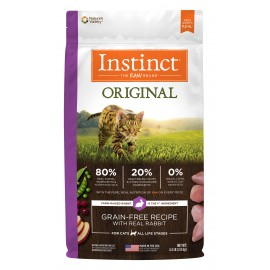 Instinct Feline - Oringinal Grain-Free Rabbit 本能無穀物兔肉貓用糧 10lbs