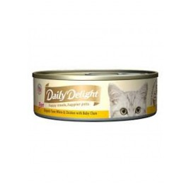 Daily Delight - 白鰹吞拿魚+雞肉+BB蜆Skipjack Tuna White & Chicken & Baby Clam 80g