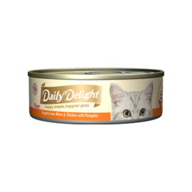 Daily Delight - 白鰹吞拿魚+雞肉+南瓜Skipjack Tuna White & Chicken & Pumpkin 80g
