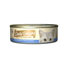 Daily Delight - 白鰹吞拿魚+雞肉+三文魚Skipjack Tuna White & Chicken & Salmon 80g