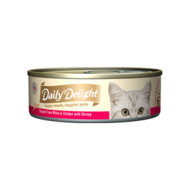Daily Delight - 白鰹吞拿魚+雞肉+鮮蝦Skipjack Tuna White & Chicken & Shrimp 80g