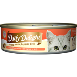 Daily Delight - 白鰹吞拿魚+胡蘿蔔Skipjack Tuna White & Carrot 80g