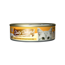 Daily Delight - 白鰹吞拿魚+甜玉米(蔬菜)Skipjack Tuna White & Sweet Corn 80g