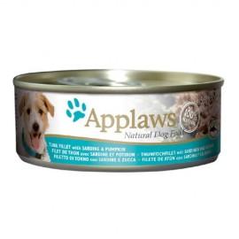 Applaws 天然狗罐頭 - 吞拿魚 + 沙甸魚 + 南瓜 156g