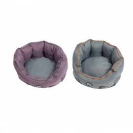 Buster Coccoon Bed 45cm BLK Plum/steel Grey