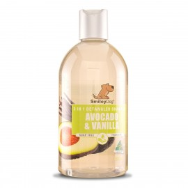 Smiley dog De-Tangler Shampoo avocado & vanilla 牛油果香草防打結2合1洗毛液 500ml