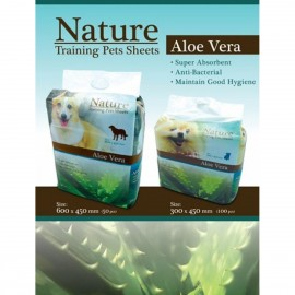 Nature2呎(60x45cm)蘆薈味寵物尿墊50片