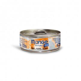 MONGE 太平洋吞拿魚三文魚 貓罐頭 80G