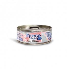 MONGE 吞拿魚雞肉海蝦 貓罐頭 80G