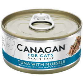 Canagan Tuna with Mussels For Cats 貓咪主食罐-吞拿魚+青口75g