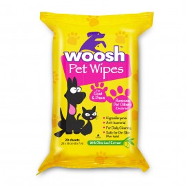 Woosh Pets Wipes 寵物濕紙巾(20 sheets)