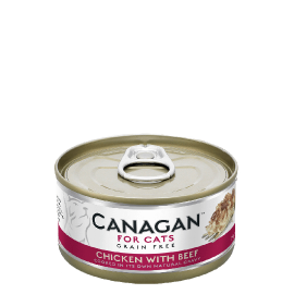 Canagan Chicken with Beef For Cats 貓咪主食罐-雞肉+牛肉75g x 12罐